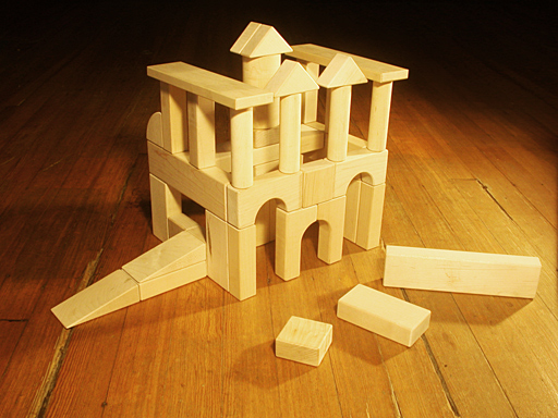 Photo of Standard Unit Wooden Blocks Starter Set as an example building made from Standard Unit Block building blocks.